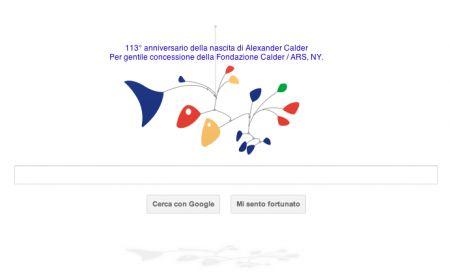 Il Google Doodle animato di oggi omaggia Alexander Calder