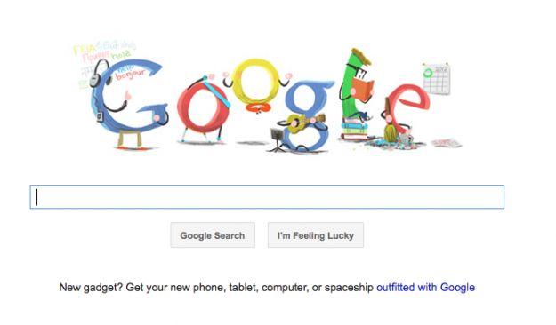 Il Google Doodle oggi è per il Capodanno e ci augura un buon 2012