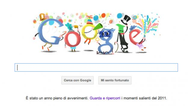 Il Google Doodle di oggi ci augura un buon Capodanno