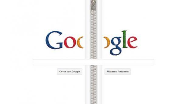 Google Doodle per Gideon Sundback, l'inventore della cerniera lampo