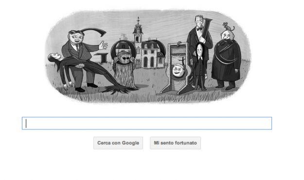 Oggi il Google Doodle celebra Charles Addams, il creatore della Famiglia Addams