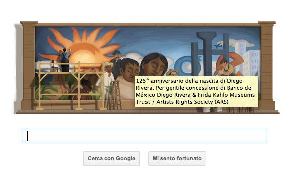 Oggi il Google Doodle celebra Diego Rivera, tra murales e rivoluzione