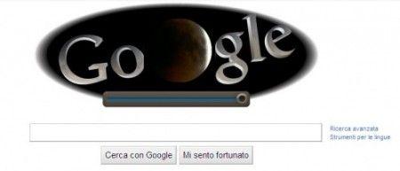 Il Google Doodle di oggi omaggia l'eclissi di Luna