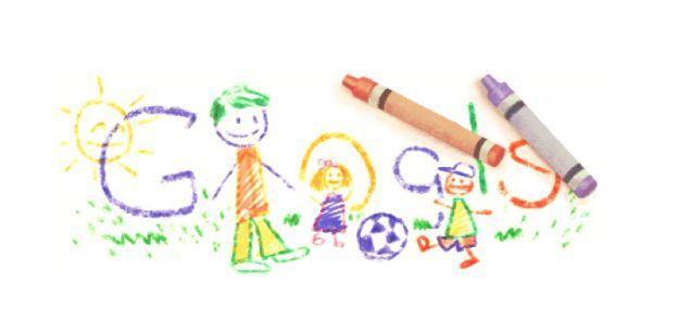 Google Doodle per la Festa del Papà disegnato dai bambini