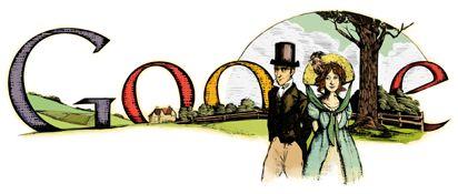 google doodle jane austen