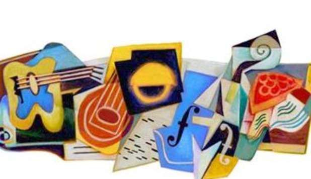 Google Doodle per Juan Gris in stile cubista