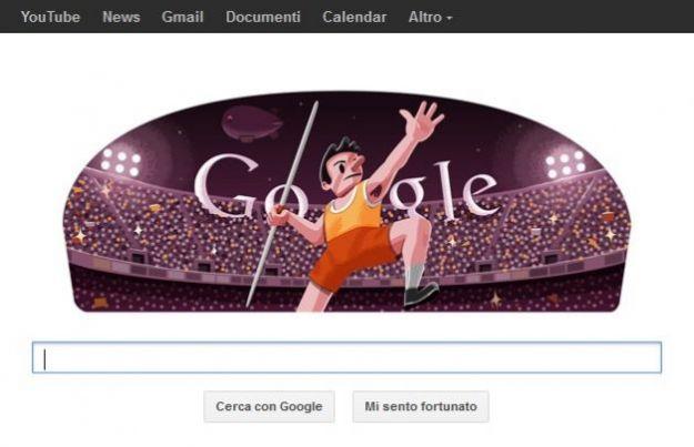 google doodle londra 2012 giavellotto