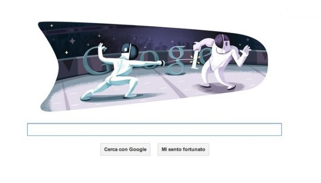 Google Doodle per Londra 2012 scherma, un altro logo olimpico