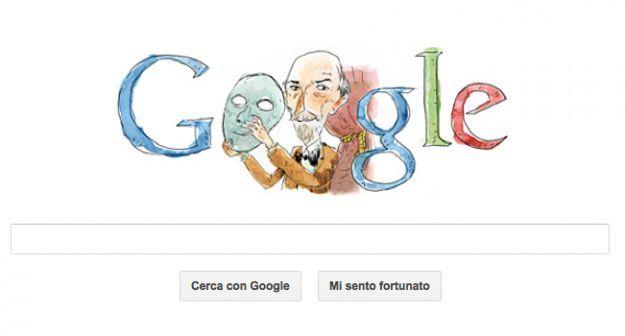 Google Doodle per Luigi Pirandello, il logo