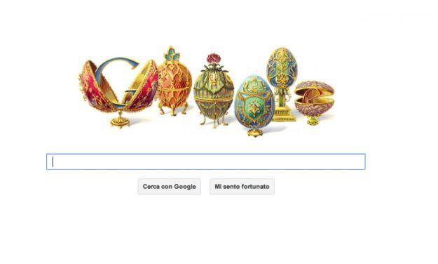 Google Doodle per Peter Carl Fabergé, orafo delle uova d'oro
