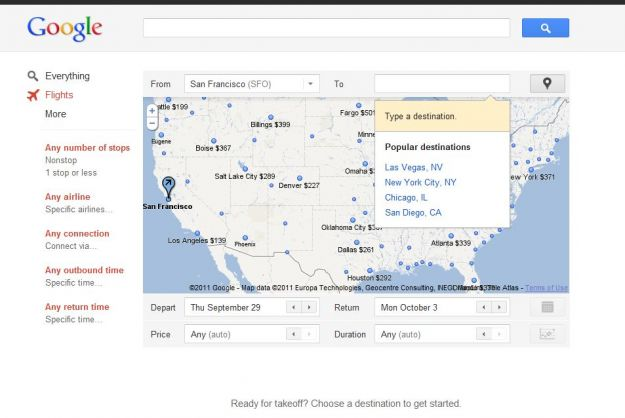 Il servizio Google Flights scatena le ire dei concorrenti