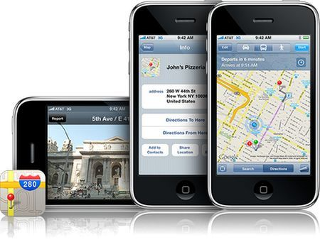 Google Maps su iOS 5 con i percorsi alternativi