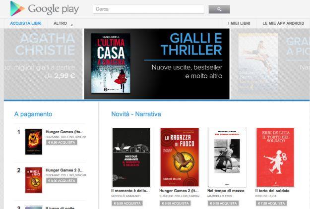 Google Play: nello Store arrivano i libri in italiano [VIDEO]