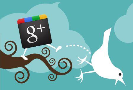 google plus twitter