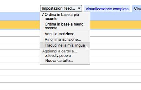 Google Reader traduzione