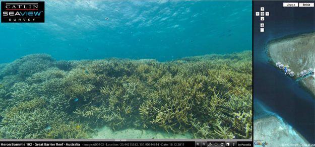 Google Street View sotto al mare per esplorare la barriera corallina