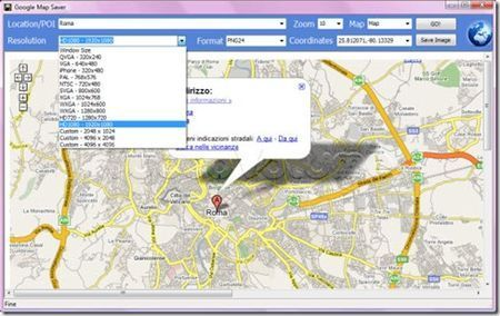 Salvare le mappe di Google con Google Map Saver