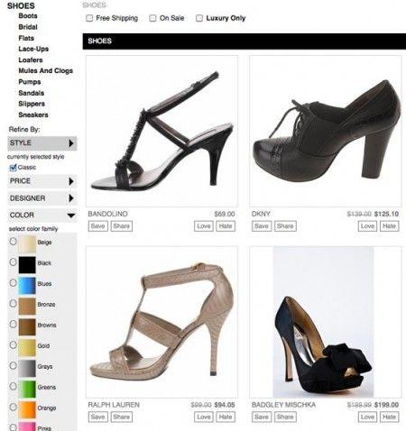 google boutiques scarpe