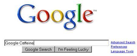 Google caffeine motoredi ricerca