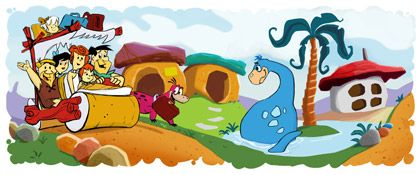 Google Doodle per celebrare I Flintstones