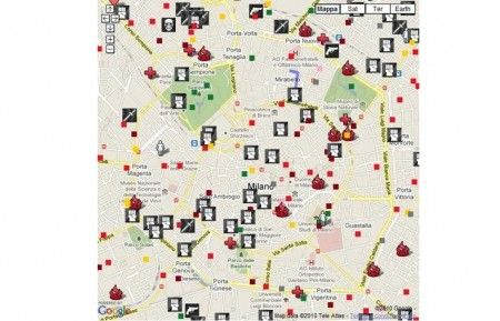 Google Maps: Milano, ecco la mappa del crimine