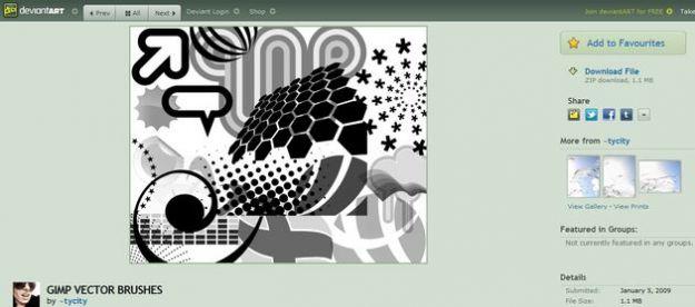 grafica pc pennelli gimp download