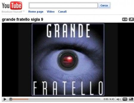 grande fratello youtube