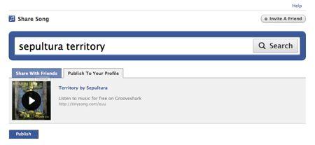 Grooveshark ora è anche un'app di Facebook