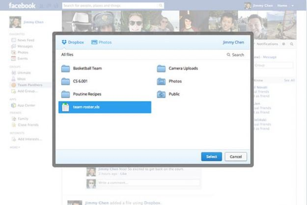 Gruppi su Facebook: i file si possono condividere con Dropbox