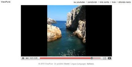 Guardare i video di YouTube su una pagina vuota con ViewPure