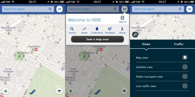 here maps nokia ios