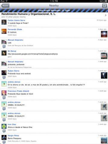 iPad social network buzzie