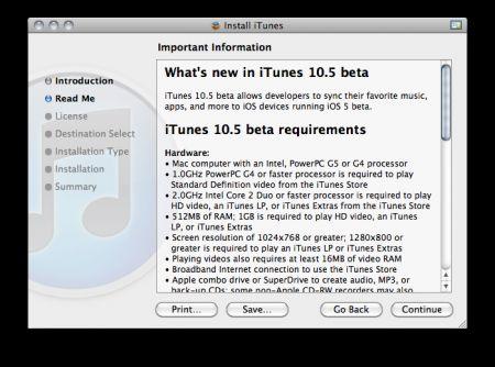 iTunes 10 5