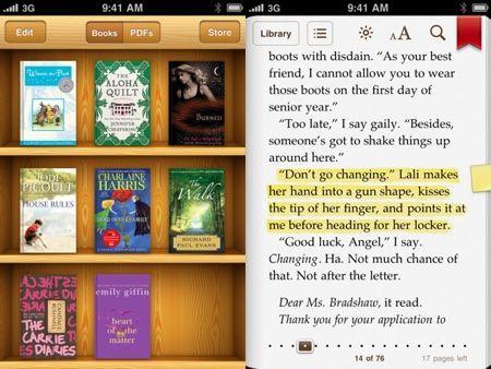 iBooks si aggiorna, con supporto per iPhone, file PDF e inserimento di note