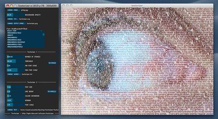 Creare immagini costituite da parole con Textorizer