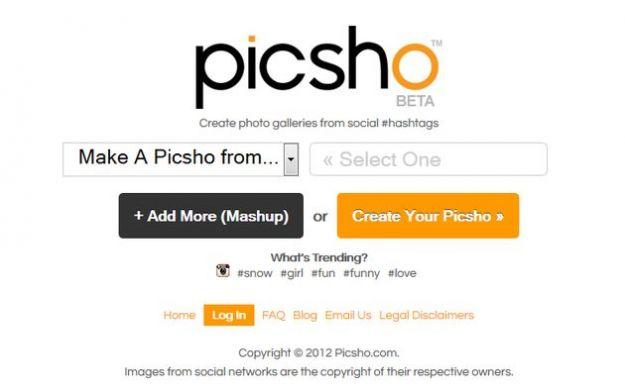 Trovare immagini su internet in base agli hashtag con Picsho