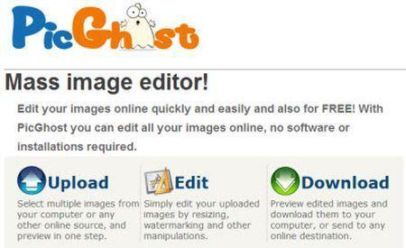 Ridurre più immagini insieme con PicGhost