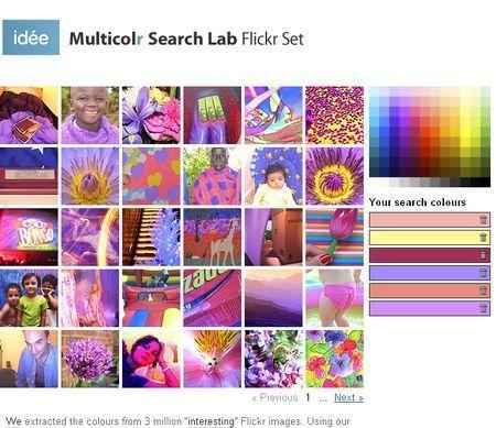 Cercare foto su Flickr secondo il colore