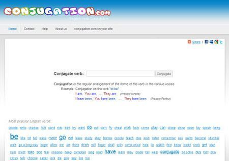 inglese conjugation