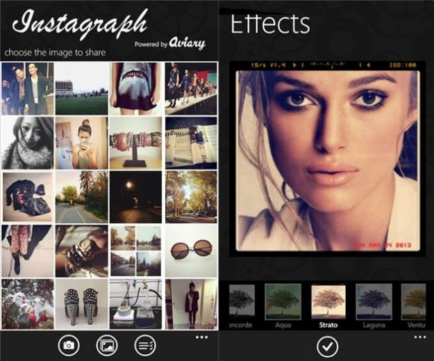 Instagram su Windows Phone: l'app Instagraph