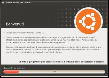installare ubuntu 8