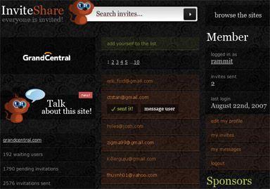 InviteShare screenshot