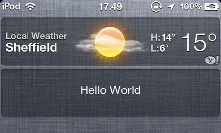 Nel nuovo iOS 5 si potranno inserire widget nel centro notifiche?