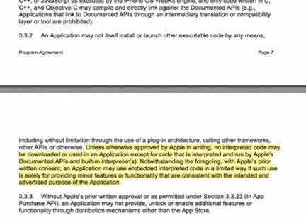 iOS 4: la nuova clausola per lo sviluppo per iPhone con tool esterni