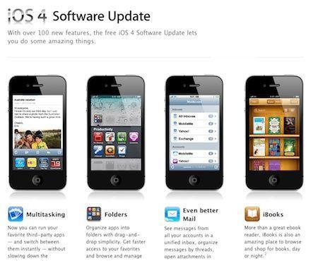 Disponibile l'aggiornamento a iOS 4 per iPhone e iPod touch