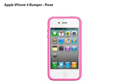Bumper rosa per iPhone 4