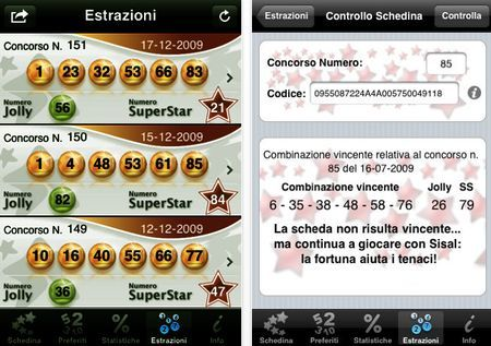 Giocare al SuperEnalotto su iPhone e iPad