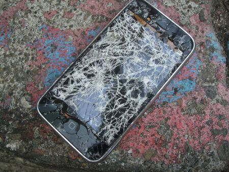 iPhone crepato