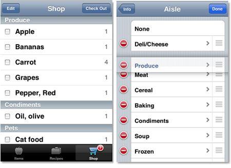 Organizzare la lista della spesa con l'iPhone