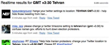 iranelection posizione: tehran